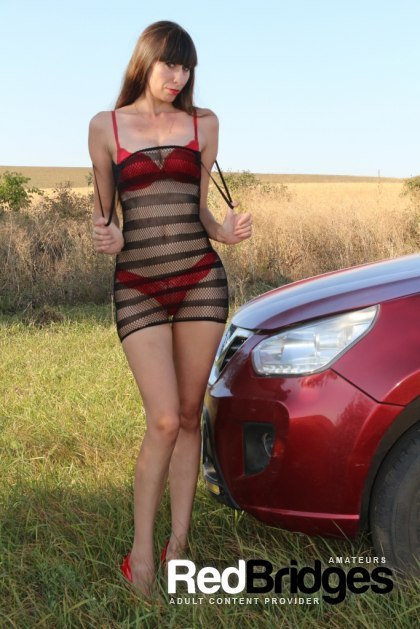 Car, Girls Solo, Heels and Outdoor 2257 Adult Photo Set AST P008