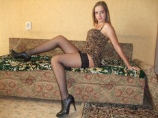 Girls Solo, Heels, Sofa and Stockings 2257 Adult Photo Set PAL P001